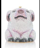 Judith Leiber Piglet Wilbur Minaudiere Clutch Bag