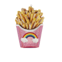 Judith Leiber Couture Rainbow French Fries Clutch Bag