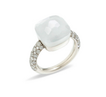 Pomellato Nudo Ring with White Moonstone and Diamonds