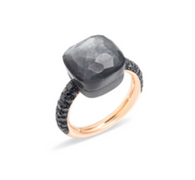 Pomellato Nudo Ring with Grey Moonstone and Diamonds
