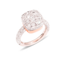 Pomellato Nudo Maxi Solitaire Ring in White Gold with Diamonds