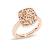 Pomellato Nudo Maxi Solitaire Ring in Rose Gold with Diamonds