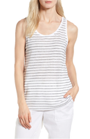 Eileen Fisher Stripe Linen Tank