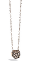 Pomellato Nudo Pendant and White Gold Chain with Brown Diamonds