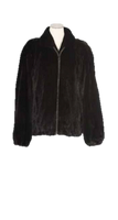 Augustina's Female Mink Zip-Up Jacket
