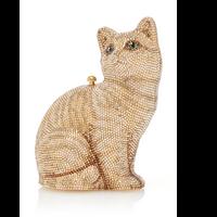 Judith Leiber Couture Morris Cat Champagne Prosecco Clutch Bag