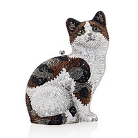 Judith Leiber Cat Tabby Clutch Bag