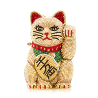 Judith Leiber Beckoning Cat Maneki-Neko Clutch Bag