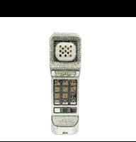 Judith Leiber Call Me Brick Phone Silver Clutch Bag
