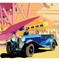Lagonda Poster Scarf