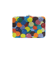 Judith Leiber Couture Gumballs Slim Slide Clutch