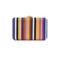 Judith Leiber Couture Candy Stripes Slim Slide Clutch