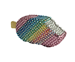 Judith Leiber Couture Shimmer Rainbow Popsicle Pillbox