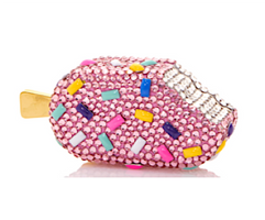 Judith Leiber Couture Strawberry Sprinkle Popsicle Pillbox