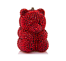 Judith Leiber Couture Red Gummy Bear Pillbox