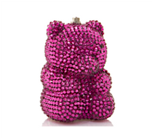 Judith Leiber Couture Fuchsia Gummy Bear Pillbox