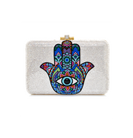 Judith Leiber Couture Hamsa Slim Slide Clutch