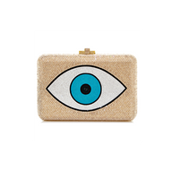 Judith Leiber Couture Evil Eye Slim Slide Clutch