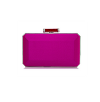 Judith Leiber Couture Lilac Soho Satin Clutch
