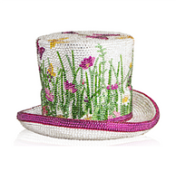 Judith Leiber Couture Garden Top Hat Handbag