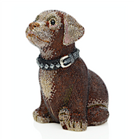 Judith Leiber Couture Buster Puppy Crystal Minaudière