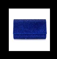 Judith Leiber Couture Fizzy Fullbead Cobalt Clutch