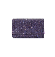 Judith Leiber Couture Fizzy Fullbead Lilac Clutch