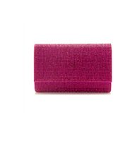 Judith Leiber Couture Fizzy Fullbead Fuchsia Clutch