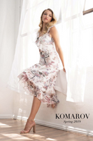 Komarov V-Neck Floral Dress