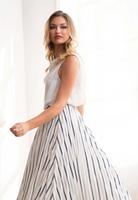 Komarov Stripe A-Line Skirt