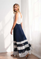 Komarov Long Skirt with Lace Inserts