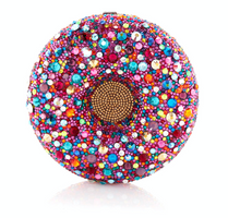 Judith Leiber Couture Confetti Sprinkles Donut