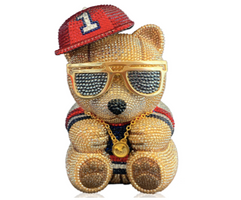 Judith Leiber Couture Teddy Bear Playa Pillbox