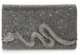 Judith Leiber Couture Ebonized Fullbead Serpent Clutch