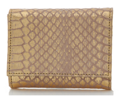 Judith Leiber Couture Micro Fizzy Elaphe Clutch Soft Gold