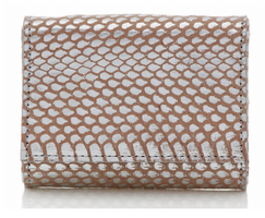 Judith Leiber Couture Micro Fizzy Elaphe Clutch Soft Silver