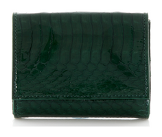 Judith Leiber Couture Micro Fizzy Elaphe Clutch Emerald