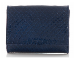 Judith Leiber Couture Micro Fizzy Elaphe Clutch Midnight Navy