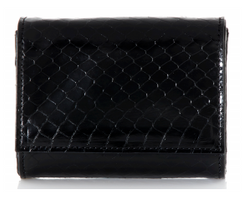 Judith Leiber Couture Micro Fizzy Elaphe Clutch Black