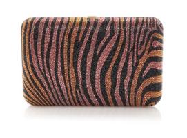Judith Leiber Couture Seamless Copper Zebra Clutch