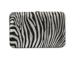 Judith Leiber Couture Disney Seamless Silver Zebra Clutch
