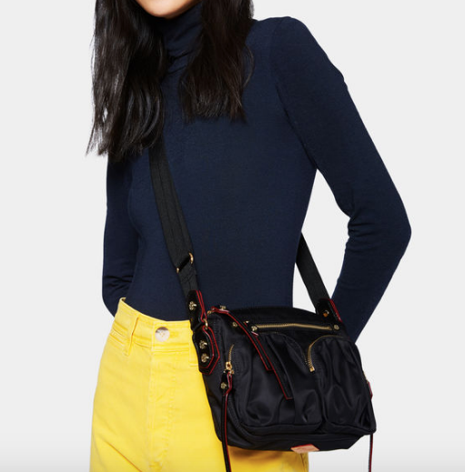 a6d378a7d22e3e MZ Wallace Bedford Black Mini Paige Crossbody. Price: $265.00. Image 1