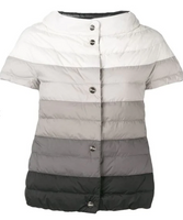 Herno Reversible Ombré Short Sleeve Puffer Jacket