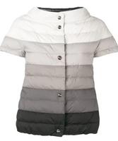 Herno Reversible Ombré Short Sleeve Puffer Jacket