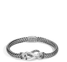 John Hardy Asli Classic Chain Link Station Silver Bracelet
