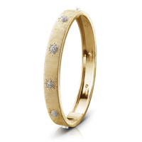 Buccellati Macri Classica 18k Yellow Gold Diamond Bangle