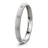 Buccellati Macri Classica 18k White Gold Diamond Bangle