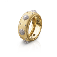 Buccellati Macri Eternelle Diamond Ring in 18k Yellow Gold