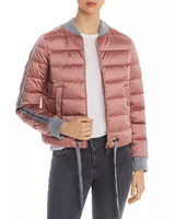 Herno Pink Sateen Bomber Jacket
