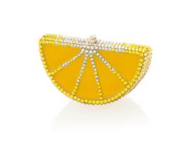 Judith Leiber Couture Lemon Slice Pillbox